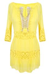 MADE IN ITALY YELLOW LONG TOP