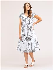 YARRA TRAIL BOTANICAL PRINT DRESS