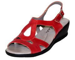 PHELAN RED SLING BACK SANDAL