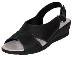 PHELAN BLACK SANDAL WITH VELCRO & LOOP