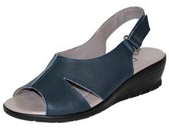 PHELAN NAVY SANDAL WITH VELCRO & LOOP