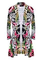 JOLIE WHITE MULTI PRINTED REGAL JACKET