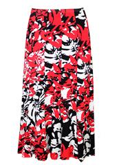 JOLIE BLACK RED PRINTED SKIRT
