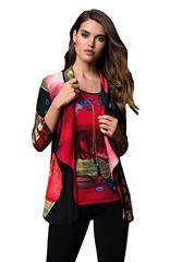 FRANK LYMAN BLACK, RED, MUSTARD JACKET