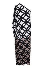 JOLIE BAM BAM BLACK BROWN OFF SHOULDER DRESS