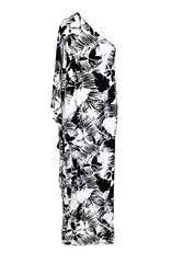 JOLIE BAM BAM BLACK WHITE OFF SHOULDER DRESS