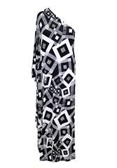 JOLIE BAM BAM WHITE BLACK OFF SHOULDER DRESS