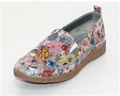 HUSH PUPPIES FLORAL SILVER MELROSE MOCASSIN