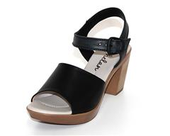 PHELAN BLACK SANDAL WITH ANKLE STRAP