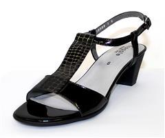 FROGGIE BLACK MULTI BLOCK HEEL SANDAL - 11920