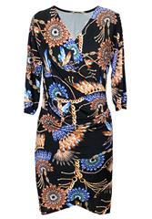 MADE IN ITALY BLACK MULTI DRESS