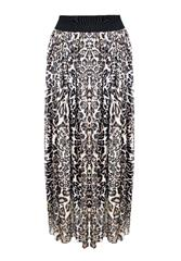 MADE IN ITALY LONG LEOPARD SKIRT