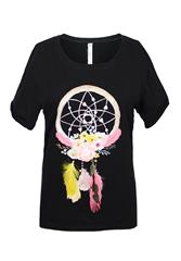 MADE IN ITALY BLACK DREAM CATCHER TEE
