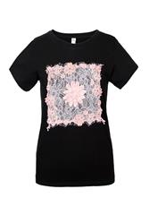 MADE IN ITALY BLACK LACE DETAIL TEE