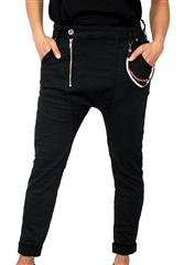 MADE IN ITALY BLACK HAREM JEANS
