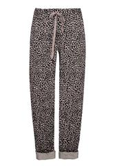 MADE IN ITALY BEIGE LEOPARD PRINT TROUSERS