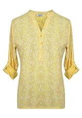 MADE IN ITALY YELLOW MULTI BLOUSE