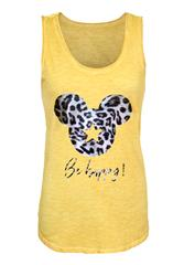 MADE IN ITALY YELLOW MICKEY CAMI