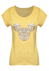 MADE IN ITALY MUSTARD MICKEY TEE