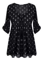 MADE IN ITALY BLACK SPOT BLOUSE