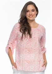 GORDON SMITH CORAL PAISLEY TOP