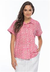 GORDON SMITH PINK MULTI SHORT SLEEVE PAISLEY SHIRT