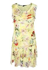 MADE IN ITALY YELLOW FLORAL LAYER DRESS