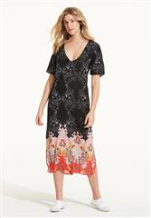 ONESEASON BLACK MULTI PLAYA ADELE DRESS