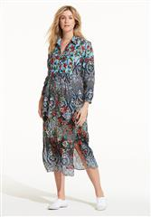 ONESEASON BLACK MULTI MADRID CAMILLE DRESS