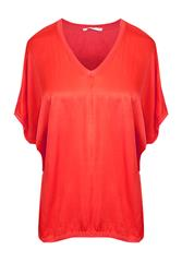 MADE IN ITALY RED V-NECK TOP