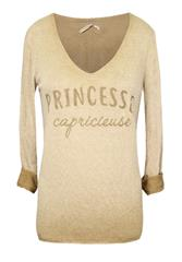 MADE IN ITALY BEIGE PRINCESSE LONG SLEEVE TOP