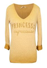 MADE IN ITALY MUSTARD PRINCESSE LONG SLEEVE TOP