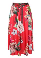 MADE IN ITALY RED MULTI FLORAL SKIRT