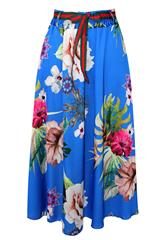 MADE IN ITALY ROYAL MULTI FLORAL SKIRT