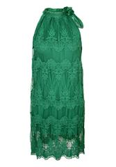 MADE IN ITALY GREEN LACE HALTER NECK DRESS