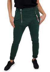 MADE IN ITALY GREEN HAREM JEANS