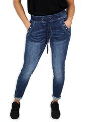 MADE IN ITALY BLUE DRAWSTRING JEANS