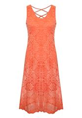 MADE IN ITALY RUST LACE DRESS