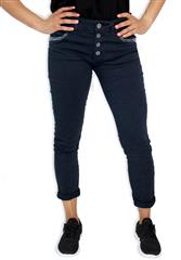 MADE IN ITALY NAVY SEQUENCE DETAIL JEANS