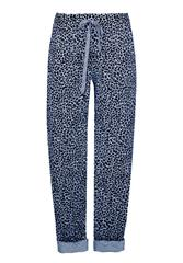 MADE IN ITALY BLUE LEOPARD PRINT TROUSERS