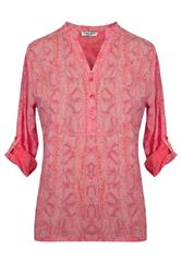 MADE IN ITALY PINK PRINT BLOUSE