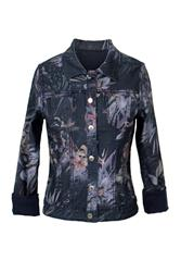 MADE IN ITALY INDIGO FLORAL REVERSIBLE JACKET