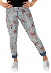 MADE IN ITALY MULTI COLOUR FLORAL REVERSIBLE JEANS
