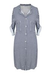 MADE IN ITALY WHITE CHECK SHIRT DRESS