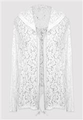 MADE IN ITALY WHITE LACE JACKET