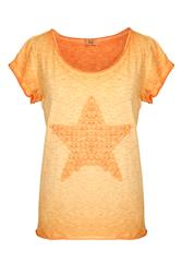MADE IN ITALY ORANGE STAR TEE