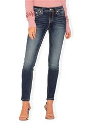 MISS ME BLUE GUARDIAN ANGEL SKINNY JEAN