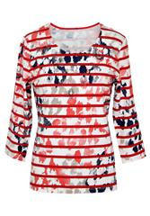 GERRY WEBER RED MULTI STRIPE TOP