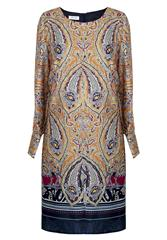GERRY WEBER YELLOW MULTI PAISLEY PRINT DRESS