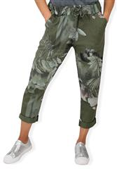 MADE IN ITALY GREEN MULTI TROUSERS